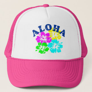 Aloha Hat Colorful Hawaiian Flowers | Holiday Gift