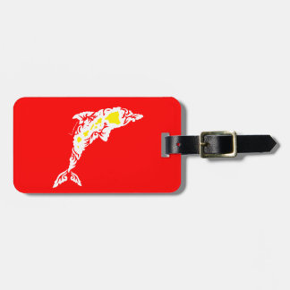 Aloha Hawaii Dolphin Luggage Tag
