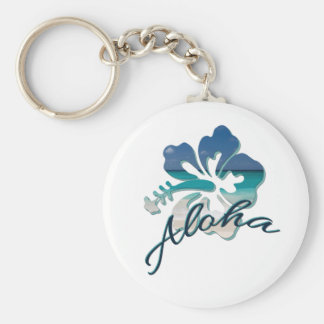 Aloha Hawaii Hibiscus Flower Key Ring