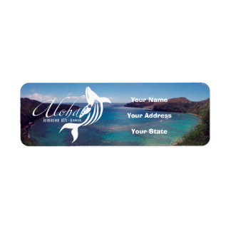 Aloha Hawaii Humpback Whale Return Address Label