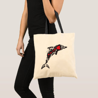 Aloha Hawaii Islands Dolphin Tote Bag