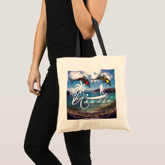 Aloha Hawaii Islands Dolphins Surfer Tote Bag