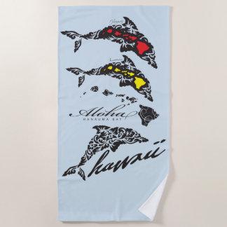 Aloha Hawaii Islands Hula Dancer Beach Towel