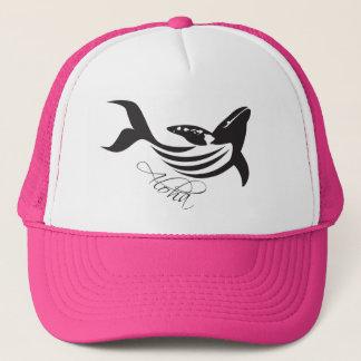 Aloha Hawaii Islands Whale Trucker Hat