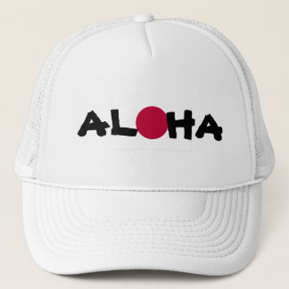 Aloha Hawaii Japanese Rising Sun Flag Trucker Hat