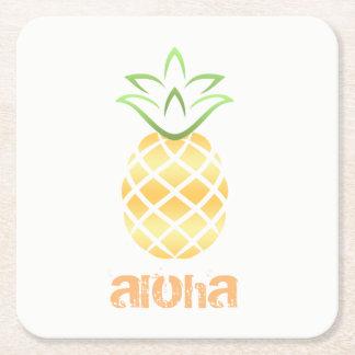 aloha hawaii pineapple drink coasters luau