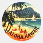 Aloha Hawaii Round Sticker
