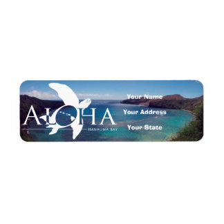 Aloha Hawaii Turtle and Hanauma Bay Return Address Label