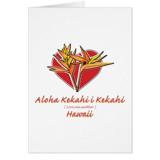 Aloha Hawaii Valentine Card