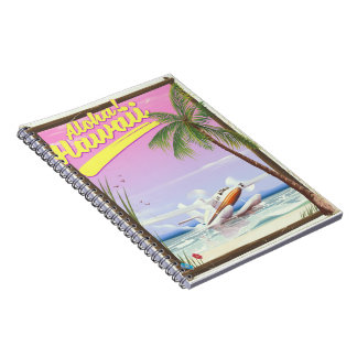 Aloha! Hawaii Vintage style travel poster Notebook