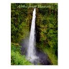 Aloha Hawaii Waterfall Postcard