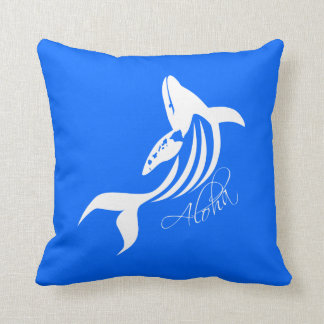 Aloha Hawaii Whale Cushion