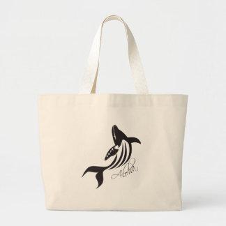Aloha Hawaii Whale Large Tote Bag