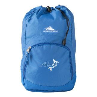 Aloha Hawaii whales Backpack