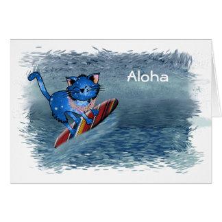 Aloha Hawaiian Christmas Greeting Card