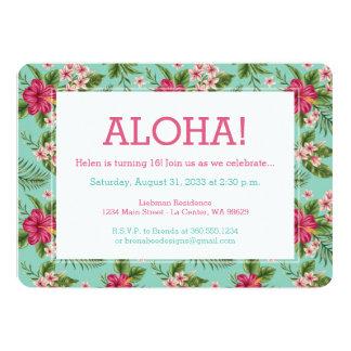 Aloha Hawaiian Floral Card