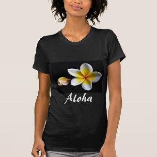 Aloha Hawaiian Frangipani Blossoms Plumerias Tshirt