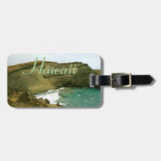 Aloha Hawaiian Green Sands Beach Luggage Tag
