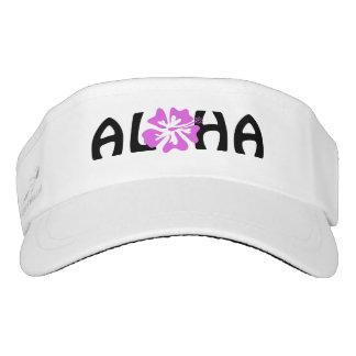 ALOHA Hawaiian Hibiscus flower sun visor cap