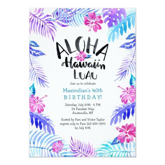 Aloha Hawaiian Invitation
