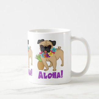 Aloha! Hawaiian Luau Pug and Pineapple Tees, Gifts Coffee Mug