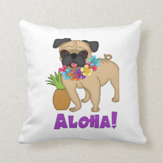 Aloha! Hawaiian Luau Pug and Pineapple Tees, Gifts Cushion