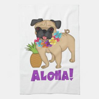 Aloha! Hawaiian Luau Pug and Pineapple Tees, Gifts Tea Towel