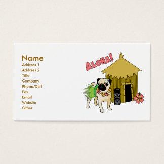 Aloha!  Hawaiian Pug Business Cards-customizable Business Card
