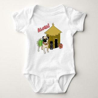 Aloha!  Hawaiian Pug Tees for Babies