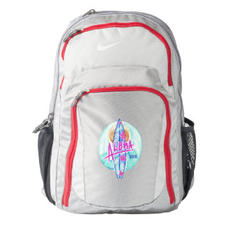 Aloha Hawaiian Surfer custom monogram backpacks Backpack
