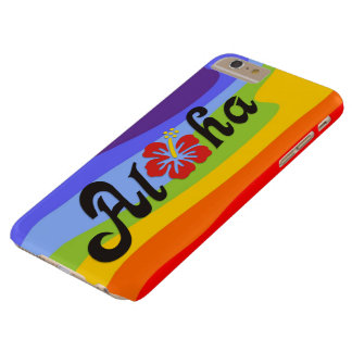 Aloha Hibiscus - flat Hawaii design + your ideas Barely There iPhone 6 Plus Case