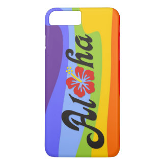 Aloha Hibiscus - flat Hawaii design + your ideas iPhone 7 Plus Case
