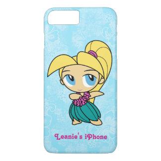 Aloha Honeys Blond Hula Girl Hawaiian Hibiscus iPhone 8 Plus/7 Plus Case