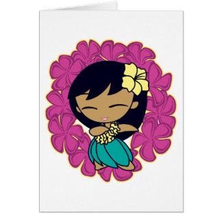 """""""Aloha Honeys"""" Greeting Cards in Fuchsia"""