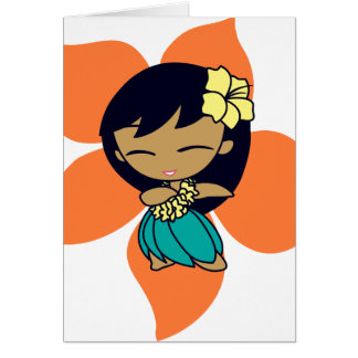 """Aloha Honeys"" Greeting Cards in papaya"