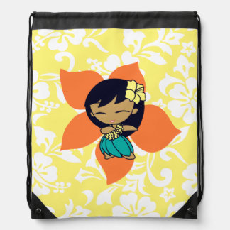 Aloha Honeys Hawaiian Hula Girl Hibiscus Backpack