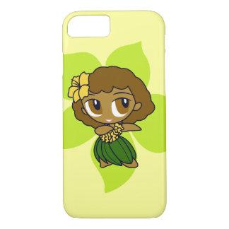 Aloha Honeys Hawaiian Lime Hibiscus Hula Girl iPhone 8/7 Case