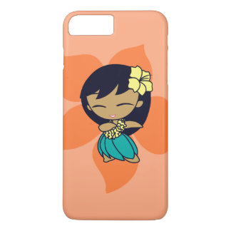 Aloha Honeys Hawaiian Papaya Hibiscus Hula Girl iPhone 8 Plus/7 Plus Case