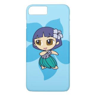 Aloha Honeys Hawaiian Turq Hibiscus Hula Girl iPhone 8 Plus/7 Plus Case