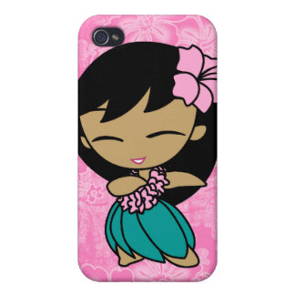Aloha Honeys Hula Girl Hibiscus  Cover For iPhone 4