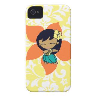 Aloha Honeys Hula Girl Hibiscus iPhone 4 Case