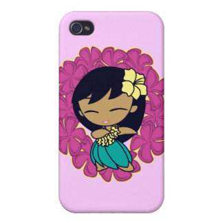 Aloha Honeys Hula Girl  iPhone 4/4S Cases