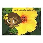 Aloha Honeys Luau Invite Card