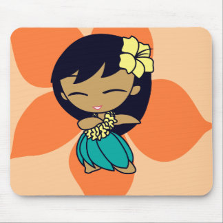 """Aloha Honeys"" Mousepad in lt. peach"