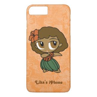 Aloha Honeys Orange Hula Girl Hawaiian Hibiscus iPhone 8 Plus/7 Plus Case