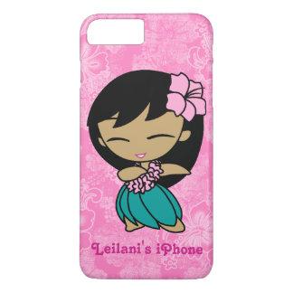 Aloha Honeys Pink Hula Girl Hawaiian Hibiscus iPhone 8 Plus/7 Plus Case