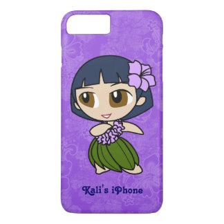 Aloha Honeys Purple Hula Girl Hawaiian Hibiscus iPhone 8 Plus/7 Plus Case