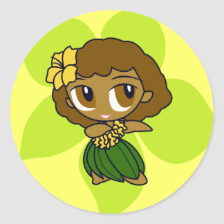 """Aloha Honeys"" Stickers in lt. yellow"