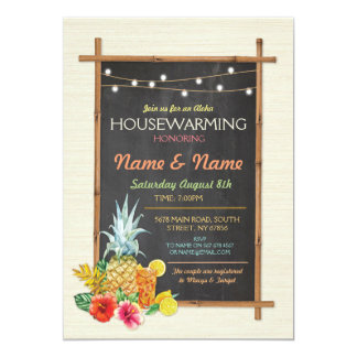 Aloha Housewarming Luau Tiki New Home Invite