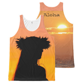 Aloha Hula All-Over Print Tank Top